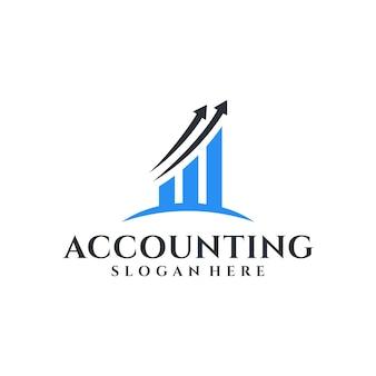 Plantilla de inspiración de diseño de logotipo moderno y elegante de contabilidad.