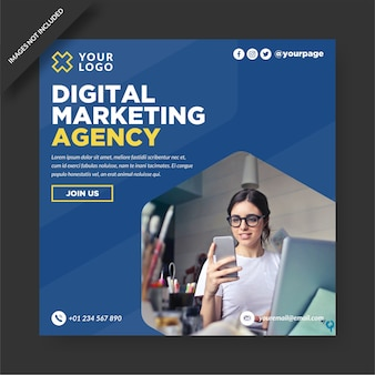 Plantilla de instagram de agencia de marketing digital
