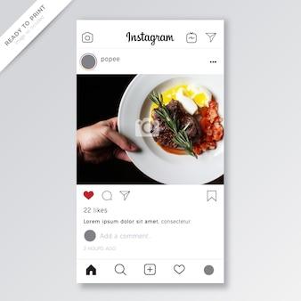 Plantilla de instagram maqueta