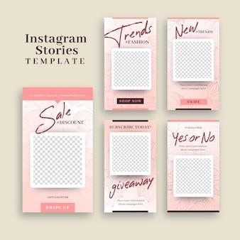 Plantilla de instagram stories con marco