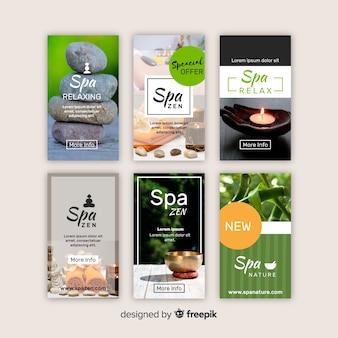 Plantilla de instagram stories de spa