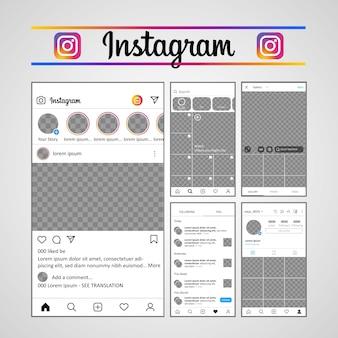 Plantilla instagram ux