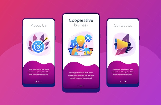 Plantilla de interfaz de la aplicación de colaboración