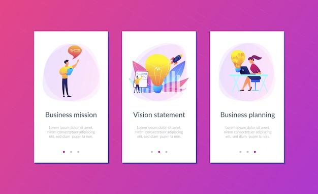 Plantilla de interfaz de aplicación de declaración de visión