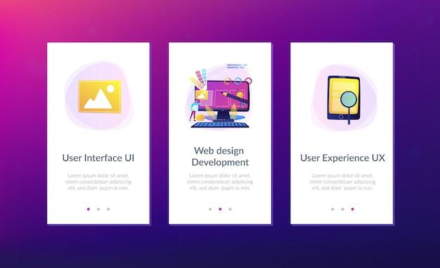 Plantilla de interfaz de aplicación de desarrollo de diseño web
