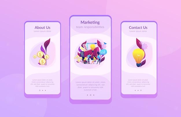 Plantilla de interfaz de aplicación de equipo de marketing digital