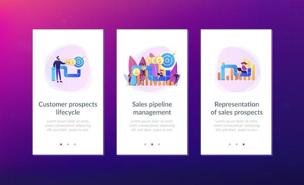 Plantilla de interfaz de aplicación de gestión de embudo de ventas