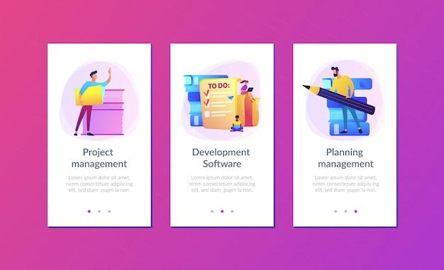 Plantilla de interfaz de la aplicación de gestión de tareas it