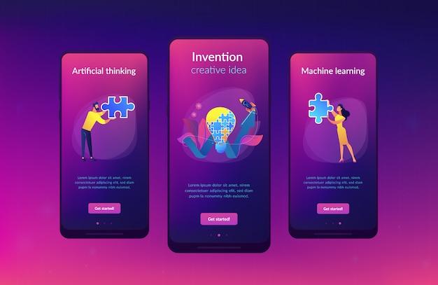 Plantilla de interfaz de aplicación de idea creativa