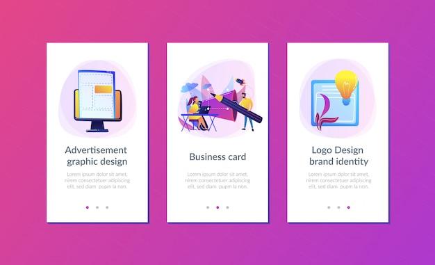 Plantilla de interfaz de la aplicación de identidad de marca