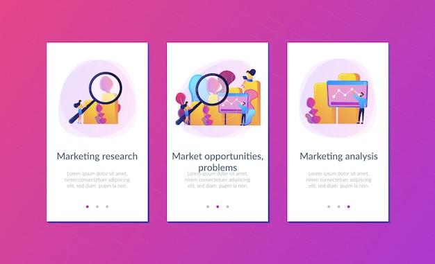 Plantilla de interfaz de la aplicación de investigación de marketing