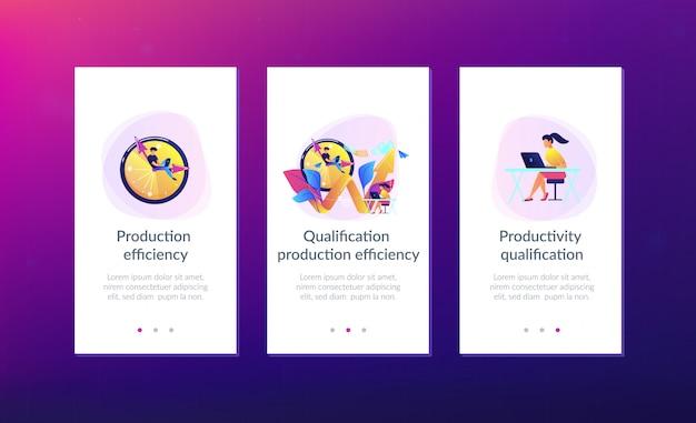 Plantilla de interfaz de la aplicación de productividad