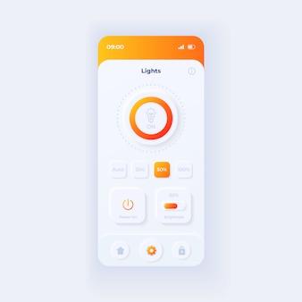 Plantilla de interfaz de teléfono inteligente de aplicación de horario de autobús
