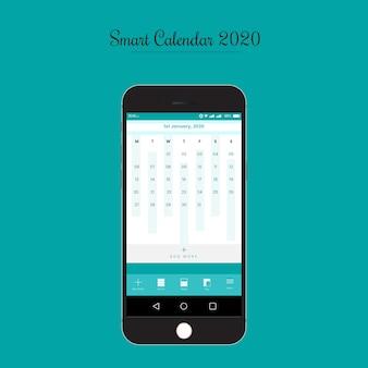 Plantilla de interfaz de usuario de la aplicación smart calendar