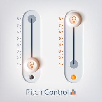 Plantilla de interfaz de usuario con control deslizante vertical