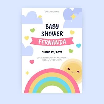 Plantilla de invitación para baby shower de chuva de amor