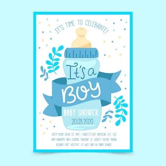 Plantilla de invitación de baby shower (niño)