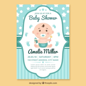 Plantilla de invitación a baby shower