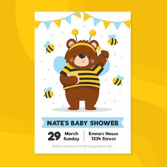 Plantilla de invitación de baby shower