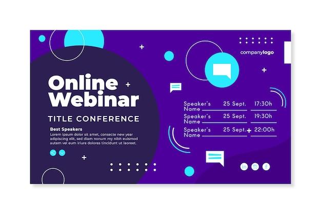 Plantilla de invitación de banner de seminario web