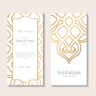 Plantilla de invitación de boda elegante decorativa