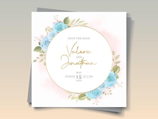 Plantilla de invitación de boda floral elegante