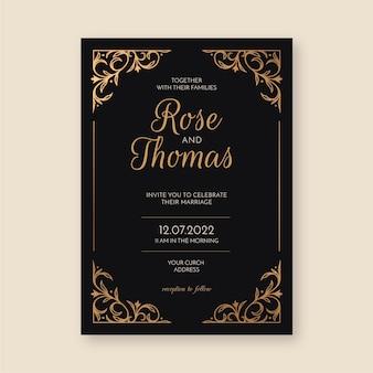 Plantilla de invitación de boda sofisticada