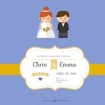 Plantilla de invitación de boda