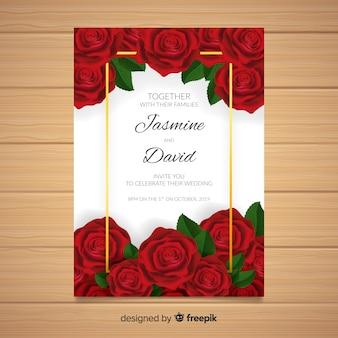 Plantilla de invitación de bodas