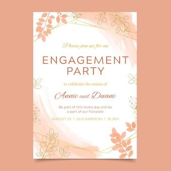 Plantilla de invitación de compromiso elegante