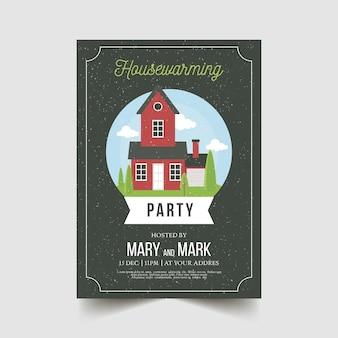 Plantilla de invitación creativa fiesta de inauguración
