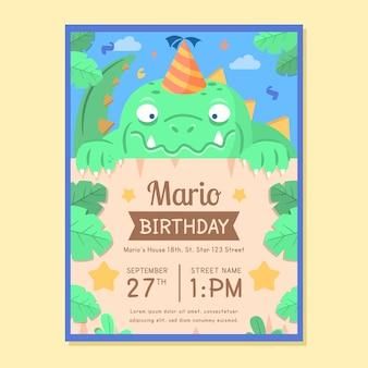 Plantilla de invitación de cumpleaños para niños