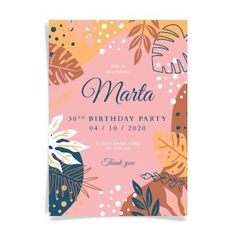 Plantilla de invitación de cumpleaños
