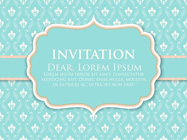 Plantilla de invitación de decoración de adorno