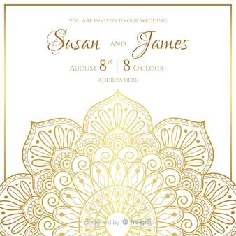 Plantilla de invitación elegante de boda