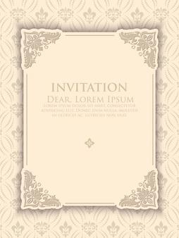 Plantilla de invitación elegante vintage