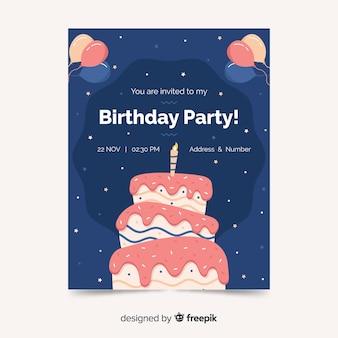 Plantilla de invitación a fiesta de cumpleaños