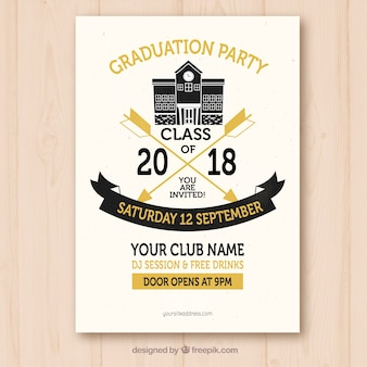 Plantilla de invitación de fiesta de graduación