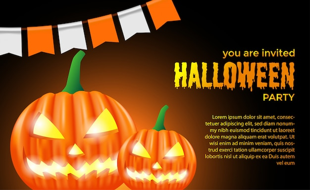 Plantilla de invitación de fiesta de halloween