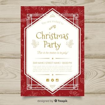Plantilla de invitación de fiesta de navidad