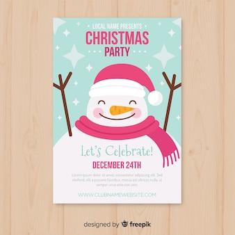 Plantilla de invitación a fiesta navideña