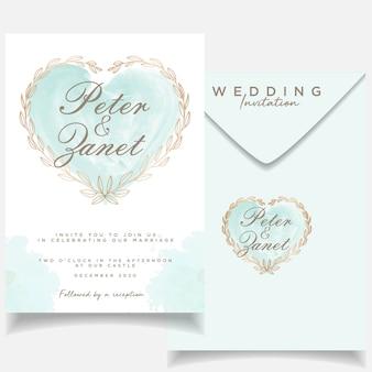 Plantilla de invitación hermosa boda invitación