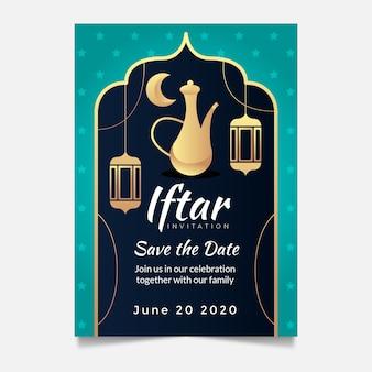Plantilla de invitación de iftar