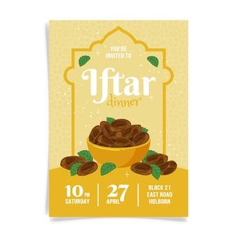 Plantilla de invitación para iftar