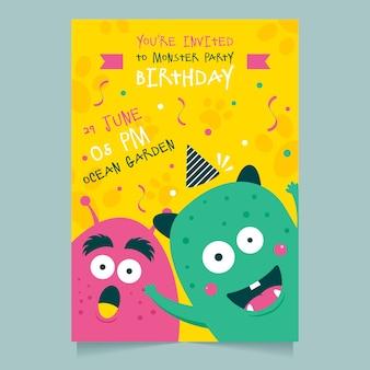 Plantilla de invitación de tarjeta de cumpleaños