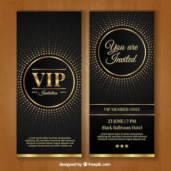 Plantilla de invitación vip