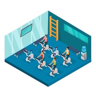 Plantilla isométrica de deporte y fitness