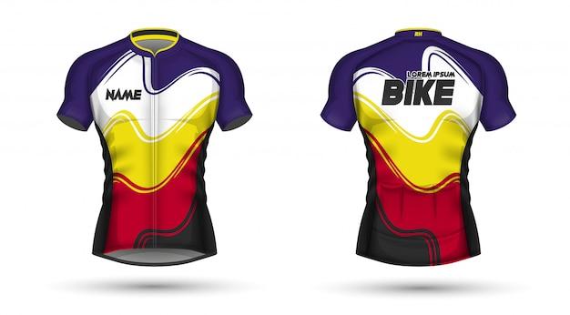 Plantilla de jersey de ciclismo
