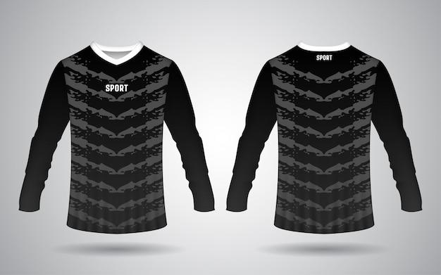 Plantilla de jersey deportivo delantero y trasero