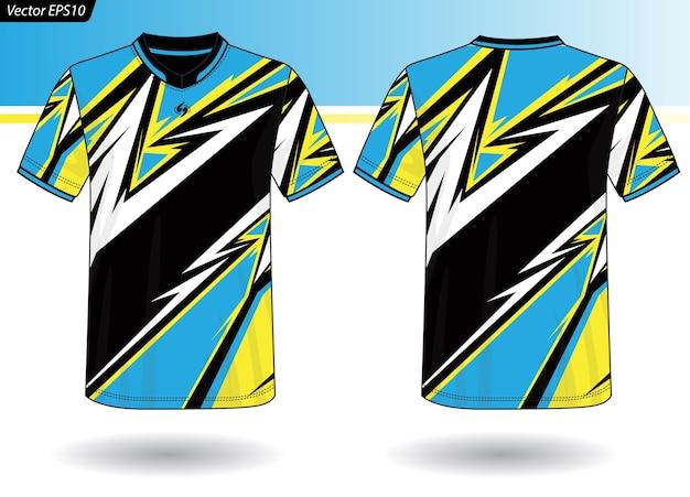 Plantilla de jersey deportivo para uniformes de equipo